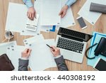 business people working at... | Shutterstock . vector #440308192