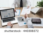 business partners working at... | Shutterstock . vector #440308372