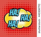Ha Comic Book Bubble Text Retro ...