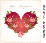 valentines day greeting card... | Shutterstock .eps vector #44031100