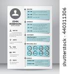 job resume or cv template... | Shutterstock .eps vector #440311306