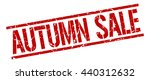 autumn sale stamp.stamp.sign... | Shutterstock .eps vector #440312632