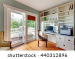 home office with white open... | Shutterstock . vector #440312896