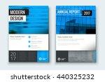 magazine design. corporate... | Shutterstock .eps vector #440325232