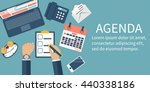 Agenda Concept. Businessman At...
