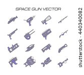 space gun vector. space weapons ... | Shutterstock .eps vector #440340082