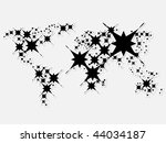 image of vector  world map... | Shutterstock . vector #44034187