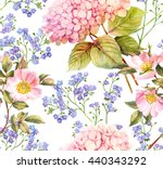hydrangea  forget me not and... | Shutterstock . vector #440343292