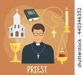 Young Catholic Priest Icon...
