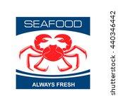 Fresh Seafood Bar Badge Design...