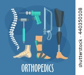 orthopedics and prosthetics... | Shutterstock .eps vector #440350108