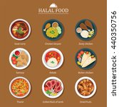 set of halal food flat design | Shutterstock .eps vector #440350756