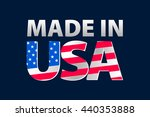 made in the usa logo art | Shutterstock . vector #440353888