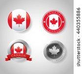 canadas county design. maple... | Shutterstock .eps vector #440355886