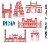 popular indian architecture...   Shutterstock .eps vector #440369188