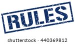 rules stamp.stamp.sign.rules. | Shutterstock .eps vector #440369812