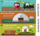 potato harvester. potato... | Shutterstock .eps vector #440370676