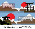 set of banners with the... | Shutterstock .eps vector #440371336