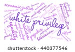 white privilege word cloud on a ... | Shutterstock .eps vector #440377546