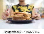 somebody feel hungry then make... | Shutterstock . vector #440379412