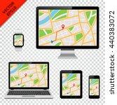 computer monitor  laptop ... | Shutterstock .eps vector #440383072