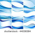 set of abstract backgrounds... | Shutterstock .eps vector #44038384