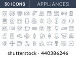 set vector line icons in flat... | Shutterstock .eps vector #440386246