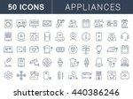 set vector line icons in flat... | Shutterstock .eps vector #440386246