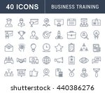 set vector line icons in flat... | Shutterstock .eps vector #440386276