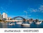 sydney harbour bridge and... | Shutterstock . vector #440391085