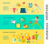 pregnancy horizontal banners...   Shutterstock .eps vector #440391442