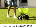 picture of young man seeding... | Shutterstock . vector #440391712