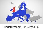 3d map of europe with european... | Shutterstock . vector #440396116