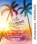 hello summer beach party....   Shutterstock .eps vector #440396152