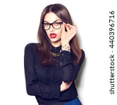 beauty sexy fashion model girl... | Shutterstock . vector #440396716