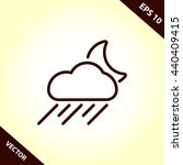 rain icon. weather line icon | Shutterstock .eps vector #440409415