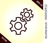 gear line icon | Shutterstock .eps vector #440410912