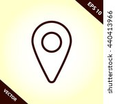 map location pin line icon