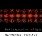 dark background with red lights