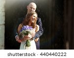 Bride Smiles Sparkling While...