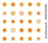 sun icon set   Shutterstock .eps vector #440446498