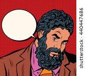 bearded african american black... | Shutterstock .eps vector #440447686