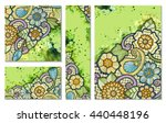 floral card. vector template... | Shutterstock .eps vector #440448196