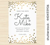 save the date  wedding... | Shutterstock .eps vector #440455936