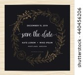 save the date  wedding... | Shutterstock .eps vector #440456206