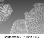 frame  architecture abstract ... | Shutterstock . vector #440457412