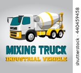 isometric mixing truck icon.... | Shutterstock .eps vector #440459458
