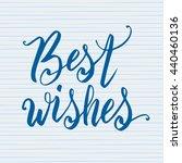 hand lettering typography... | Shutterstock .eps vector #440460136