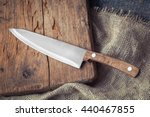 Big Kitchen Knife Lying On An...