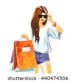 beautiful sexual elegant girl... | Shutterstock .eps vector #440474506